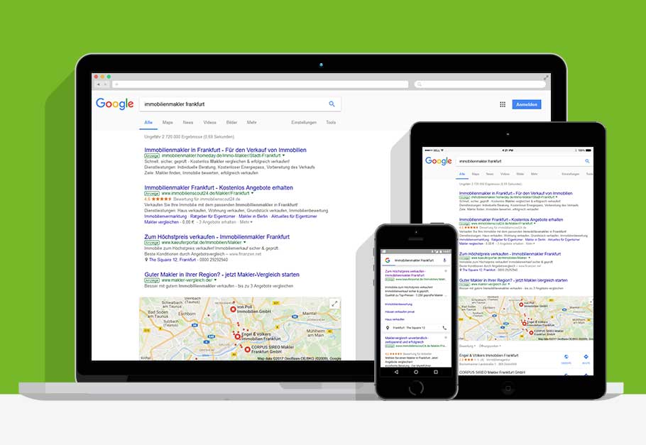 Google-Adwords für Immobilienmakler
