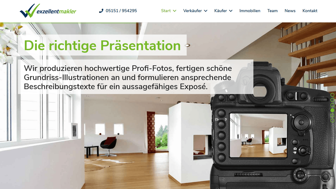 Makler-Homepage